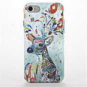Para Diseños Funda Cubierta Trasera Funda Animal Dura Policarbonato para AppleiPhone 7 Plus iPhone 7 iPhone 6s Plus iPhone 6 Plus iPhone