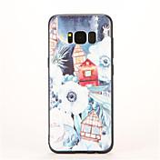 용 패턴 케이스 뒷면 커버 케이스 풍경 소프트 TPU 용 Samsung S8