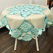Cuadrado Bordado Forros de Mesa , Poliéster MaterialHotel Dining Tabla Decoración del banquete de boda Cena banquete de la boda