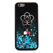 제품 케이스 커버 플로잉 리퀴드 링 홀더 패턴 DIY 뒷면 커버 케이스 글리터 샤인 하드 PC 용 Apple 아이폰 7 플러스 아이폰 (7) iPhone 6s Plus iPhone 6 Plus iPhone 6s 아이폰 6