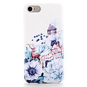 용 케이스 커버 패턴 뒷면 커버 케이스 동물 꽃장식 소프트 TPU 용 Apple 아이폰 7 플러스 아이폰 (7) iPhone 6s Plus iPhone 6 Plus iPhone 6s 아이폰 6
