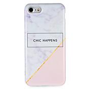 Para Carcasa Funda IMD Diseños Cubierta Trasera Funda Palabra / Frase Mármol Suave TPU para AppleiPhone 7 Plus iPhone 7 iPhone 6s Plus