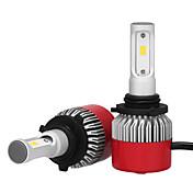 9006 36w / 2pcs led 헤드 라이트 키트 전구 칩 3600lm 필립스 led 자동차 헤드 라이트 전구 변환 키트 9v-32v 할로겐 또는 hid 전구 대체 6500 k 12 v