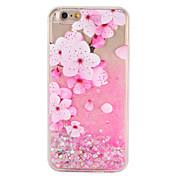 애플 아이폰 7 7 케이스 플러스 꽃 반짝이 광택 패턴 흐르는 액체 하드 pc 6s 플러스 6 플러스 6s 6