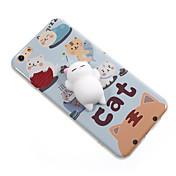 제품 케이스 커버 패턴 DIY 지저분한 뒷면 커버 케이스 고양이 카툰 소프트 TPU 용 Apple 아이폰 7 플러스 아이폰 (7) iPhone 6 Plus iPhone 6s 아이폰 6