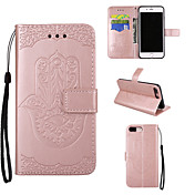 Caso para el iphone de la manzana 7 7 más el iphone 6s 6 más la cubierta del caso los casos de cuero de la PU del patrón de la palma para