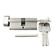 cerradura de cilindro de 70 mm pulgar cilindro de giro (35/35), cilindro de la cerradura con la perilla con 3 llaves, níquel de cepillo