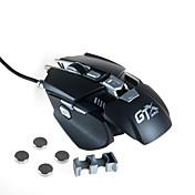 하이 엔드 4000dpi 유선 게임 마우스 매크로 정의 조정 가능한 추가 무게 부분 usb 마우스 기계 금속 마우스