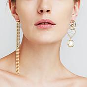 Mujer Pendientes colgantes Perla artificial La imitación de diamantePersonalizado Euramerican joyería película Joyería de Lujo Joyería