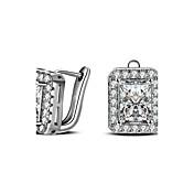 Mujer Pendientes cortos La imitación de diamante Personalizado Hipoalergénico Joyería de Lujo Clásico joyería de disfraz Diamante