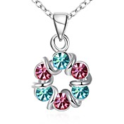 Mujer Gargantillas Collares con colgantes Collares de cadena Zirconia Cúbica Cristal Circonita Forma de Lazo Forma Geométrica Zirconio