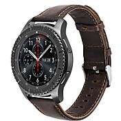 Para la correa clásica de la frontera del engranaje s3 de Samsung del hoco venda de cuero de la pulsera de la muñeca del smartwatch del
