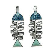 Mujer Pendientes colgantes La imitación de diamante Diseño Básico joyería de disfraz Bling Bling Brillante Legierung Joyas Joyas Para