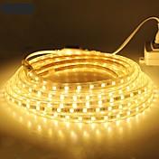 18m / 1pcs 220v 5050 llevó la cinta flexible de la tira de la cuerda de luz de Navidad al aire libre enchufe a prueba de agua al aire