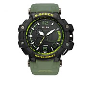 Hombre Reloj Deportivo Reloj de Pulsera Reloj Casual Reloj digital Suizo Digital LED Calendario Resistente al Agua Dos Husos Horarios