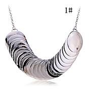 lureme®alloy Plattenmuster verbunden Halskette (farblich sortiert)