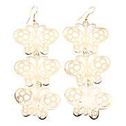 Multilayer-Schmetterlings-hängende Ohrringe