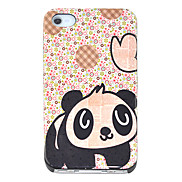 Cartoon Panda Floral Pattern Hard Case for iPhone 4/4S