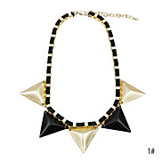 Four Triangles Alloy Necklace(Assorted Color)