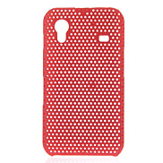 Red Mesh PC Hard Back Case Shell Cover for Samsung Galaxy Ace S5830