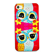 The Owl Reflection Pattern Back Case for iPhone 4/4S