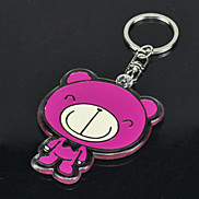 Lovely Big Mouth Bear Style Metal Keychain
