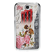 England Big Ben Sequins Starry Diamond Texture Back Case for Samsung Note 2 N7100
