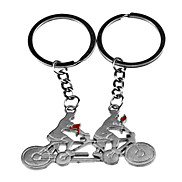 1 Pair Bicycle Style Metal Lovers Keychain