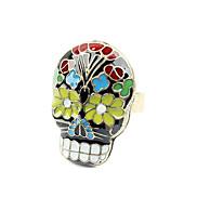 Skull Flower Eye Open Ring