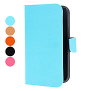 Tree Grain PU Leather Case with Magnetic Snap and Card Slot for Samsung I8260 (Assorted Colors)