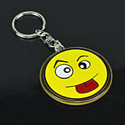 Funny Face Style Metal Keychain