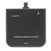 New Black Portable Backup Battery Charger for HTC Sony Ericsson Blackberry