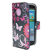 Blue Butterflies Pattern PU Leather Case with Stand and Card Slot for Samsung Galaxy S3 I9300