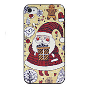 Cartoon Lovely Santa Claus Pattern Back Case for iPhone 4/4S