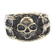 Bronze Eagle Skull Retro Ring
