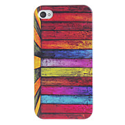 Colorful Lumber Pattern Hard Case for iPhone 4/4S