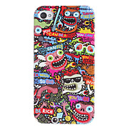 Scared Monsters Pattern Hard Case for iPhone 4/4S