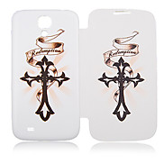 Ribbon Cross Full Body Leather Case for Samsung Galaxy S4 I9500