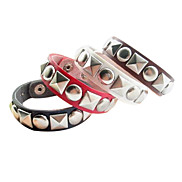 Eruner®Square Round Rivet Leater Bracelet(Assorted Color)