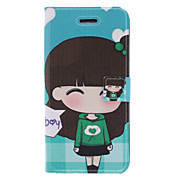 Fragrant Smell Active Girl Pattern Full Body Case with Matte Back Cover and Stand for iPhone 5/5S