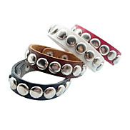 Eruner®Punk Style Round Rivet Leather Bracelet(Assorted Color)