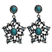 Eruner®Vintage Flower Grreen Turquoise Earrings