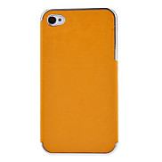 Luxury PU Leather Chrome Frame Case for iPhone 4/4S