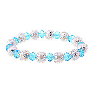 lureme®candy Farbe Kristall Perle Perle Armband (farbig sortiert)