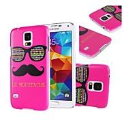 Rose Le Moustache & Glasses Hard Plastic Case Cover for Samsung Galaxy S5 Mini G800