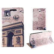 Design of The Arc DE Triomphe PU Full Body Case with Card Slot for HTC Desire 310