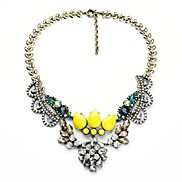 Retro Leaf Bud Design Copper Plated Alloy Necklace (1 Pc)