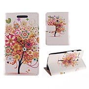 The Tree Colorful Flower Pattern PU Full Body Case with Card Slot for Motorola MOTO G