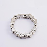 Fashion Men's Silver 316L Stainless Steel Thick Motorcycle Chain Bracelets Jewelry Christmas Gifts