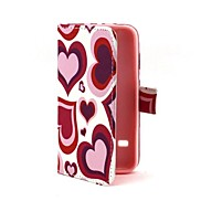 Heart Shape Design PU Leather Full Body Case with Stand for Samsung Galaxy S5 Mini G800